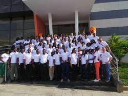 Picture ops luanda office shorebase employees